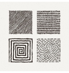 Squares set Pattern vector image