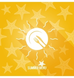 Summer menu design background vector