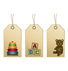 toys tags vector image vector image