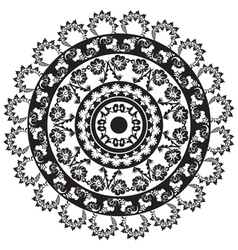 Turkish black and white design circle vector