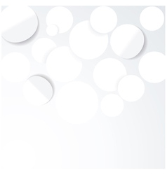 Abstract 3D Geometrical DesignWhite paper circles vector image