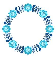 Finnish inspired round folk art pattern - nordic vector
