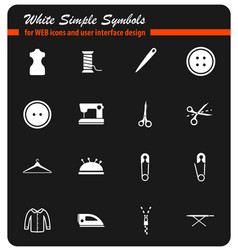 tailoring simply icons vector image