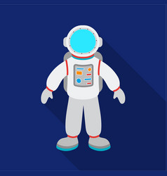 Astronaut icon in flate style isolated on white vector