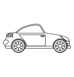 sport car isolated vector image