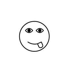 tongue emoticon vector image