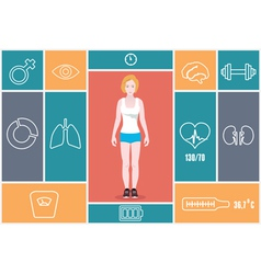 Infographic of fitness and health indicators vector