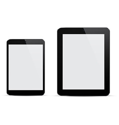 Realistic black tablets vector