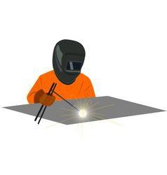 Welder vector image