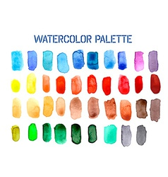 Colour palette comprising of watercolour swatches vector
