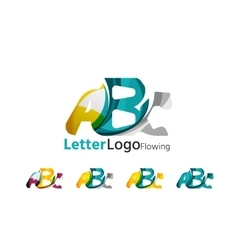 Abc company logo set vector