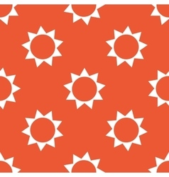 Orange sun pattern vector