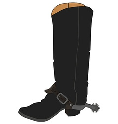 Cowboy boots with spur vector