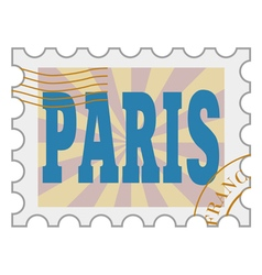 Post stamp of paris vector