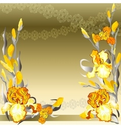 Yellow iris flowers design vector