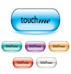 touch me button vector image