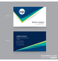 Abstract modern blue green business card vector