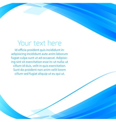 Abstract wavy background in blue vector image vector image