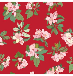 apple flowers deco pattern vector image vector image