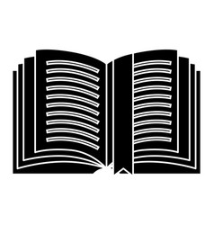 book open detailed with tag icon vector image