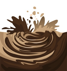 chocolate splash vector image vector image