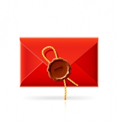 Confidential mail icon vector