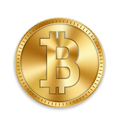 creative of 3d golden bitcoin vector image