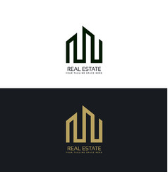 creative real estate business logo design template vector image