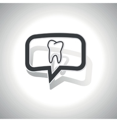 Curved tooth message icon vector