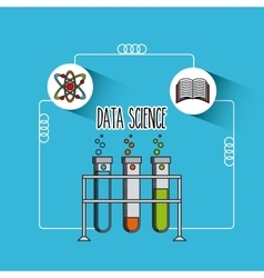 Data science flat icons vector