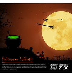 Design posters halloween parties vector