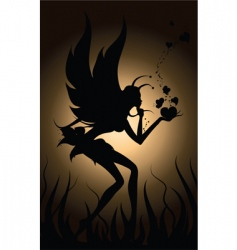 Fairy in love vector