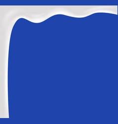 falling milk on blue background vector image