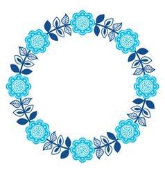 Finnish inspired round folk art pattern - nordic vector