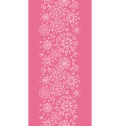 Folk pink floral circles texture abstract vertical vector image vector image