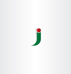 green red logo j letter j icon vector image vector image