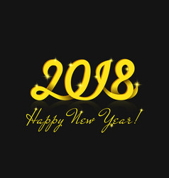 happy new year 2018 greeting card with magic vector image