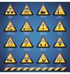 Hazard signs set vector