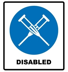 Health crutches icon flat isolated vector