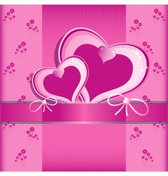Heart Flower background or card vector image vector image