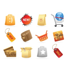 Icons for retail vector image vector image