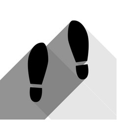 Imprint soles shoes sign black icon with vector