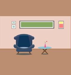 interior living room design presentation flat vector image vector image