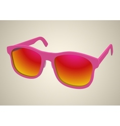 Isolated rose realistic sunglasses vector image vector image