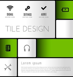 Modern layout vector image vector image