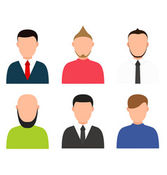modern people profile silhouettes set vector image vector image