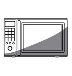 Monochrome silhouette of oven microwave vector