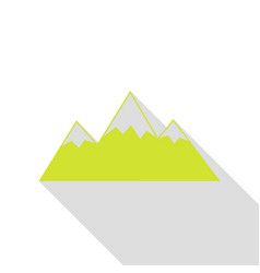 Mountain sign pear icon with flat vector