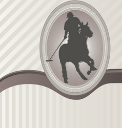 Ornament frame and polo vector
