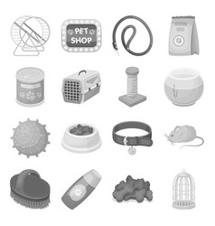 Personal computer accessories set icons in vector